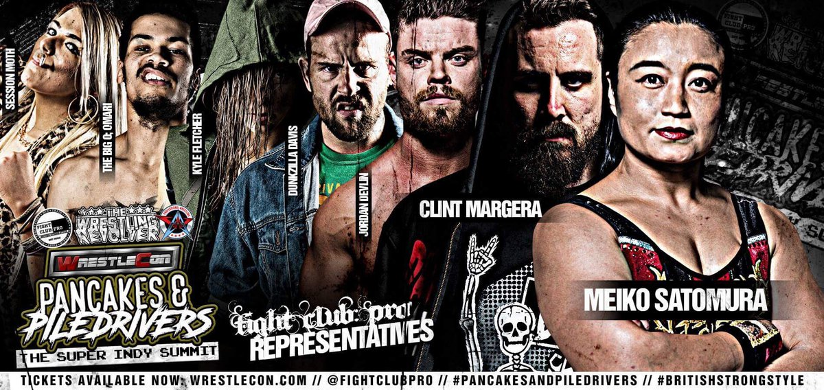On Sat 7th April 2018 history is made as three promotions come together at WrestleMania weekend to give you The Super Indy Summit. We are honoured to be a part of this and give you our 2018 representative team. #FightClubOnTour #WrestleCon Tickets: embed.showclix.com/event/the-wres…