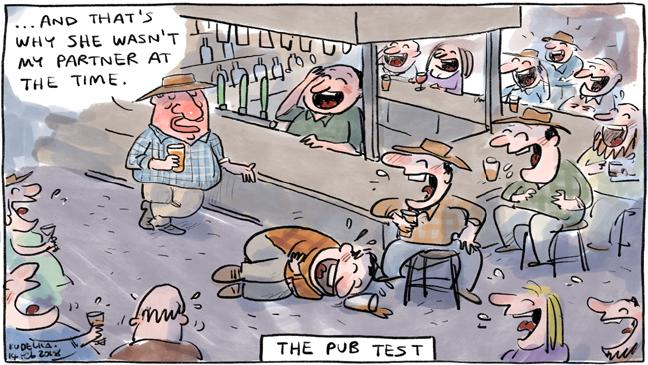 The Pub Test. @jonkudelka's cartoon today, starring @Barnaby_Joyce. https://t.co/gtGT0CvZC0