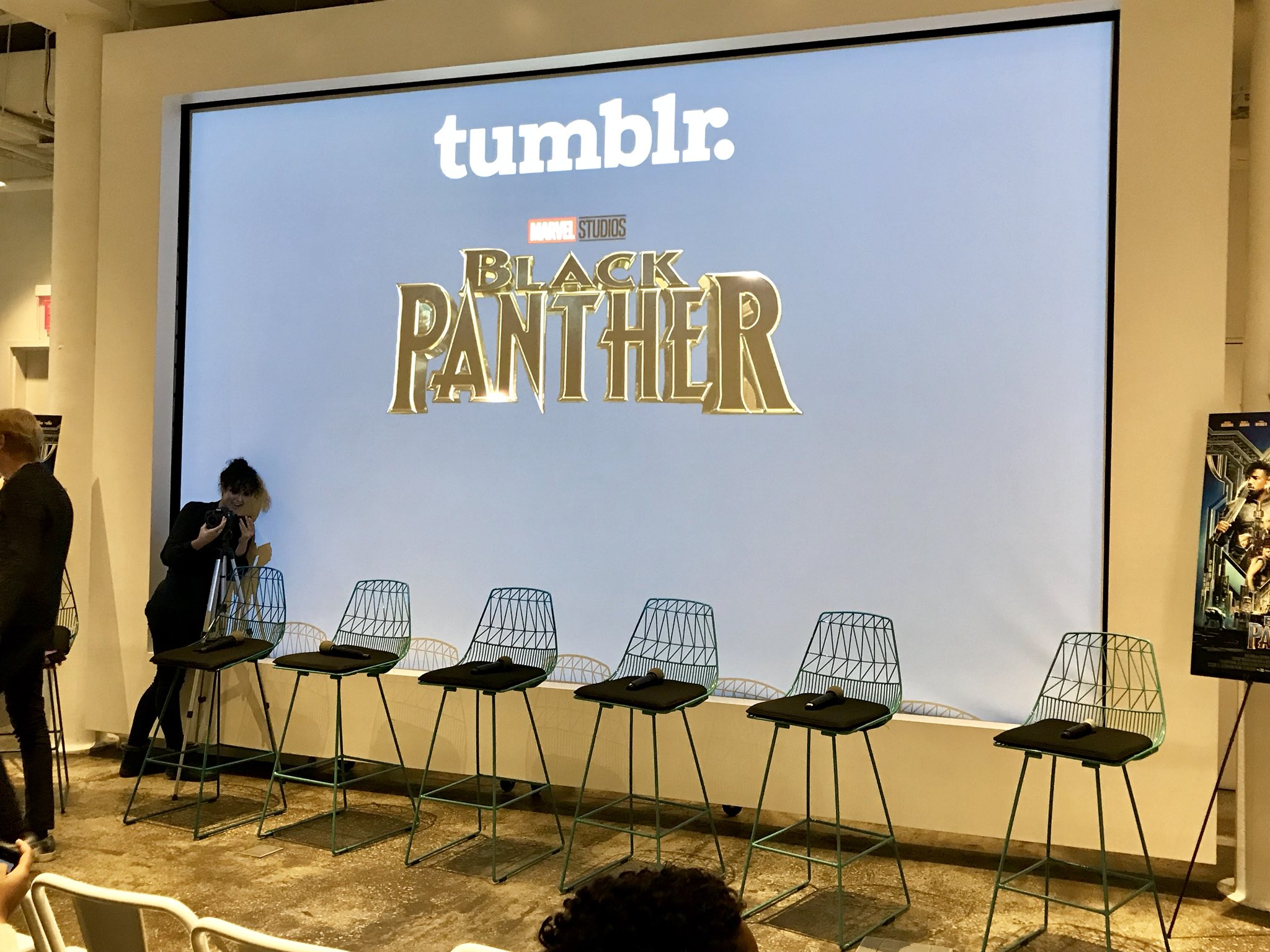 We're at the @tumblr #BlackPanther Q&A fan event! Tune in to our Instagram Stories for more: https://t.co/lODeyvaDzj https://t.co/XawBJFSeke