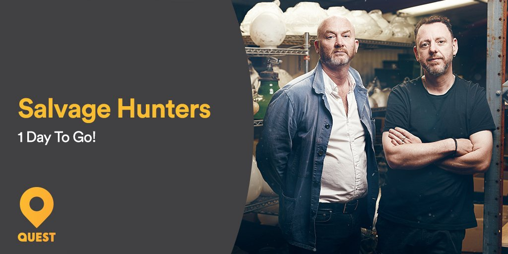 24 hours until #SalvageHunters are back!...