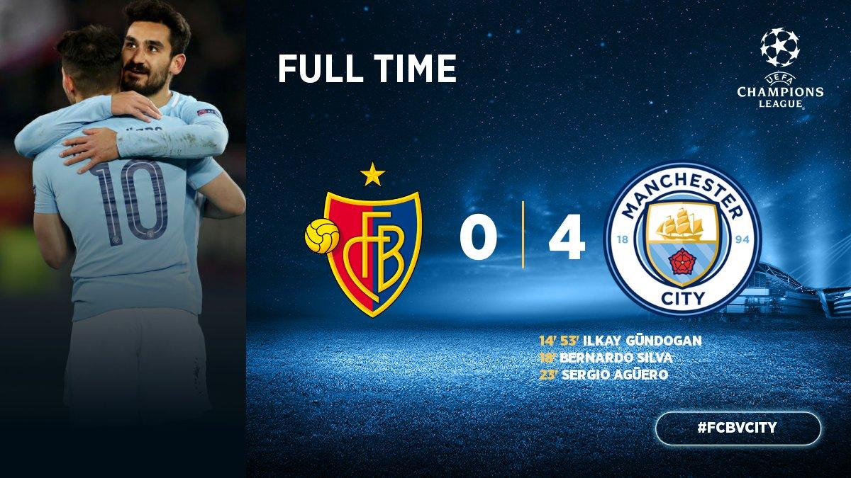 Chấm điểm kết quả Basel 0-4 Manchester City