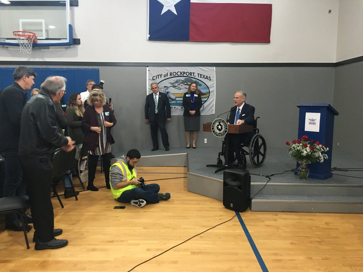 @GovAbbott gave an update on Hurricane Harvey relief & funding at the Rockport Chamber lunch this afternoon. Last week, the House, with my support, passed $89 billion in additional disaster relief funding, which President Trump signed into law Friday.