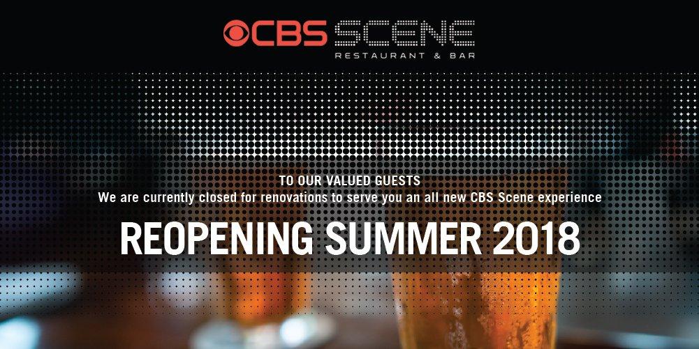 Cbs Scene Cbs Scene Restaurant Bar Is Temporarily