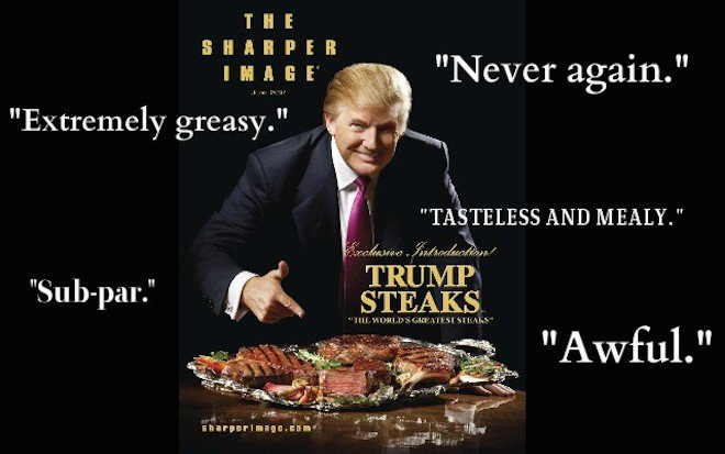 Trumpcare is to real healthcare as Trump Steaks were to real meat.