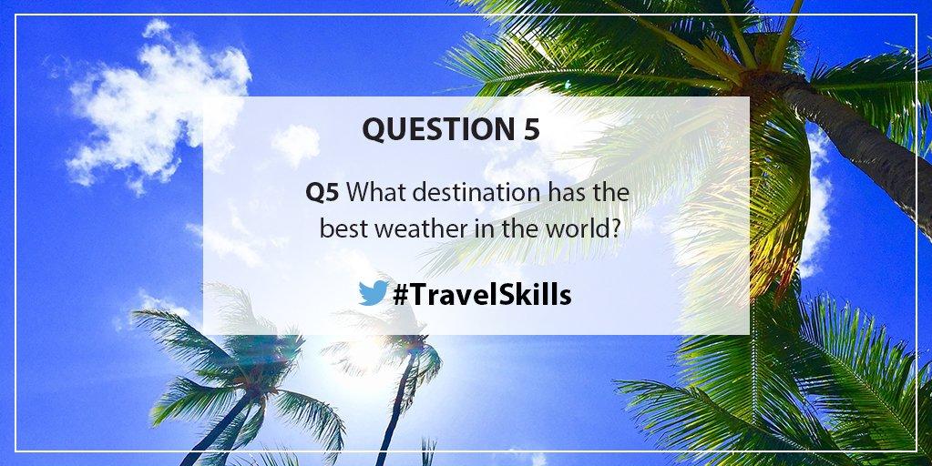 RT BBC_Travel 'RT travelskills: Q5 What...