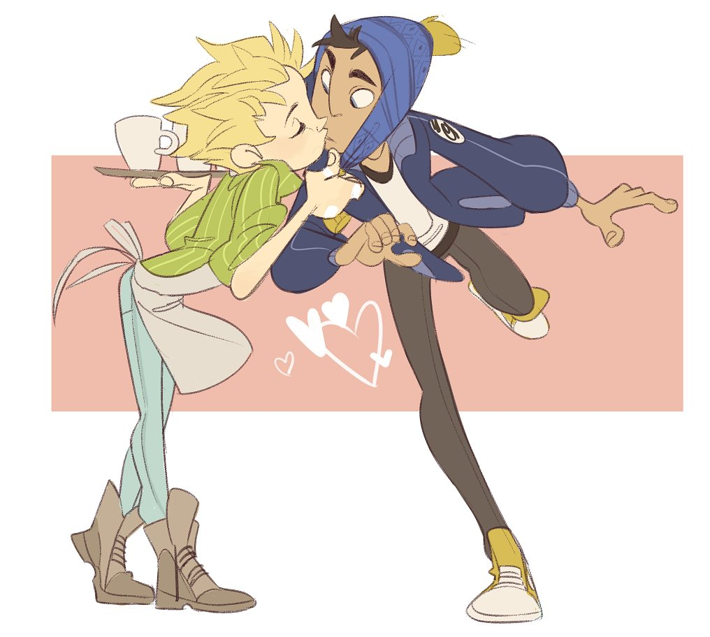 Joining the bandwagon of Tweek kissing his bf for V day