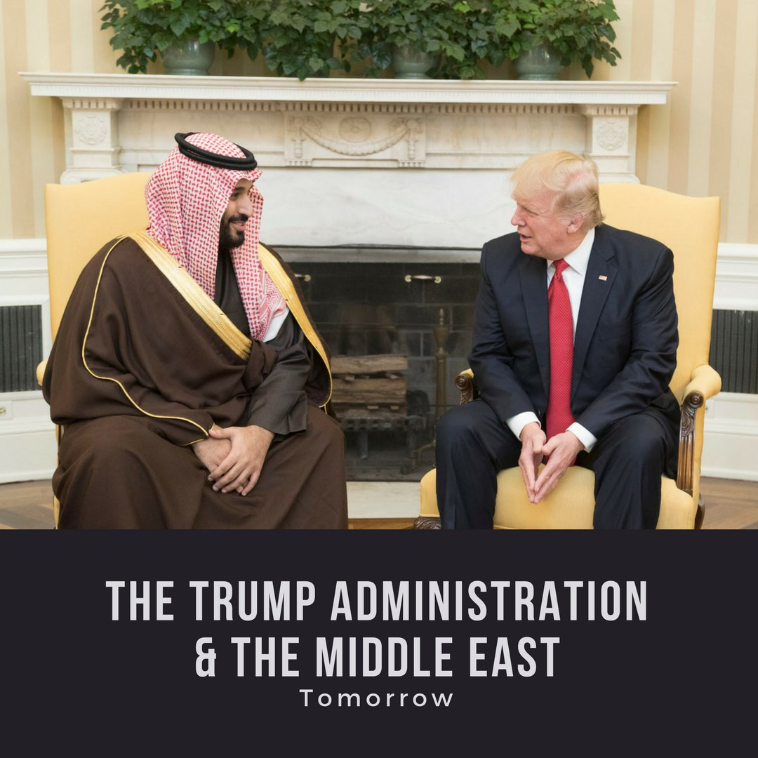 Tomorrow, Dr. Jonathan Schanzer, VP of research for the Foundation for Defense of Democracies will be speaking on Trump and the Middle East. He will discuss the Trump peace plan, new collaborations between Israel and the Sunni-Arab states and more. bit.ly/2BgoTlu