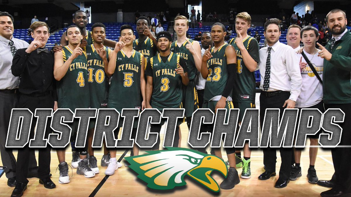 Congratulations Cy Falls HS on back to back district championships.  Looking forward to back to back #statechamps next.  Go get 'em 🦅!
