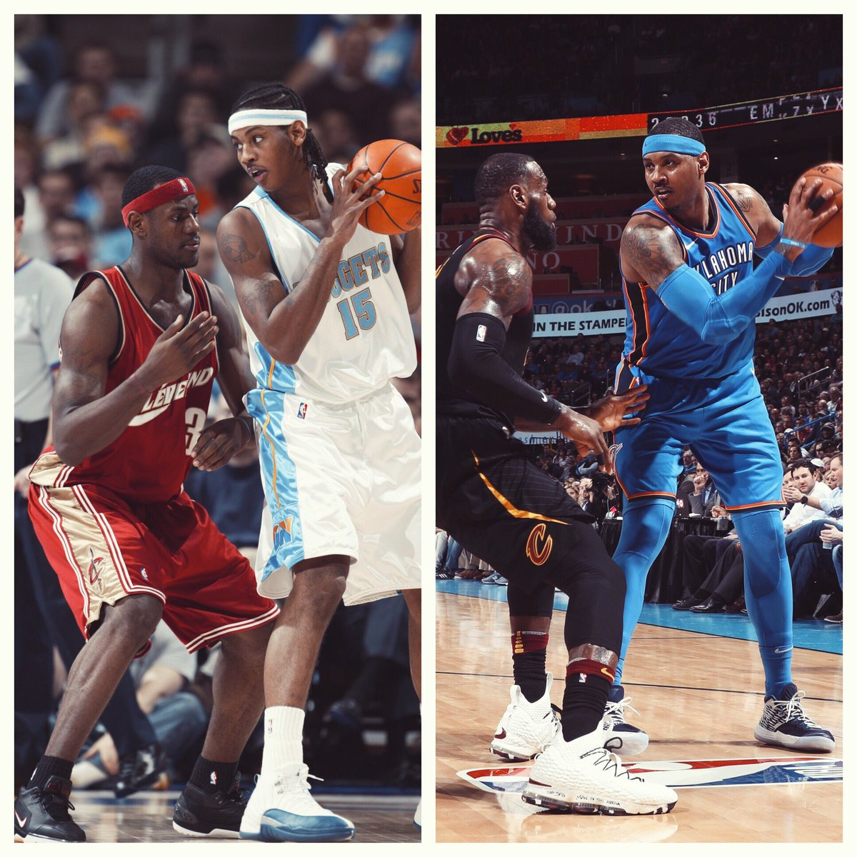 '03 to '18. Bron vs. Melo will never get old.