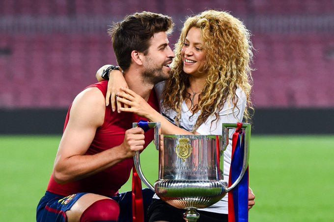 She sang the official song of the 2010 World Cup.  He won it.   Happy Birthday and