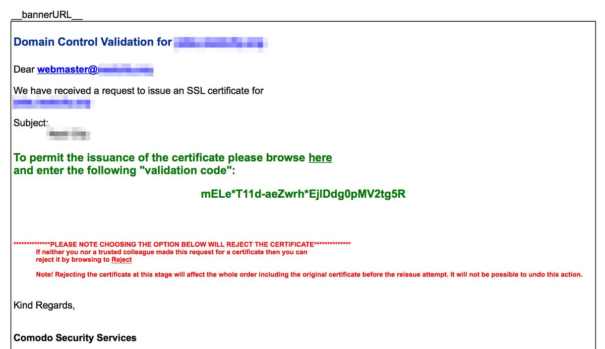 Derek hogue on twitter if comodossl was trying to make this if comodossl was trying to make this domain control validation email look taste and smell like a bad phishing attempt then i gotta say they knocked it 1betcityfo Images