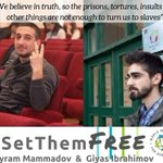 #Azerbaijan Bayram Mammadov & Giyas Ibrahimov are imprisoned students and members of  @nidavh They were arrested the day after they painted an anti-gov't message on the statue of former president Haydar Aliyev. Find out more https://t.co/oLX048wg17  #SetThemFree #stoprepression