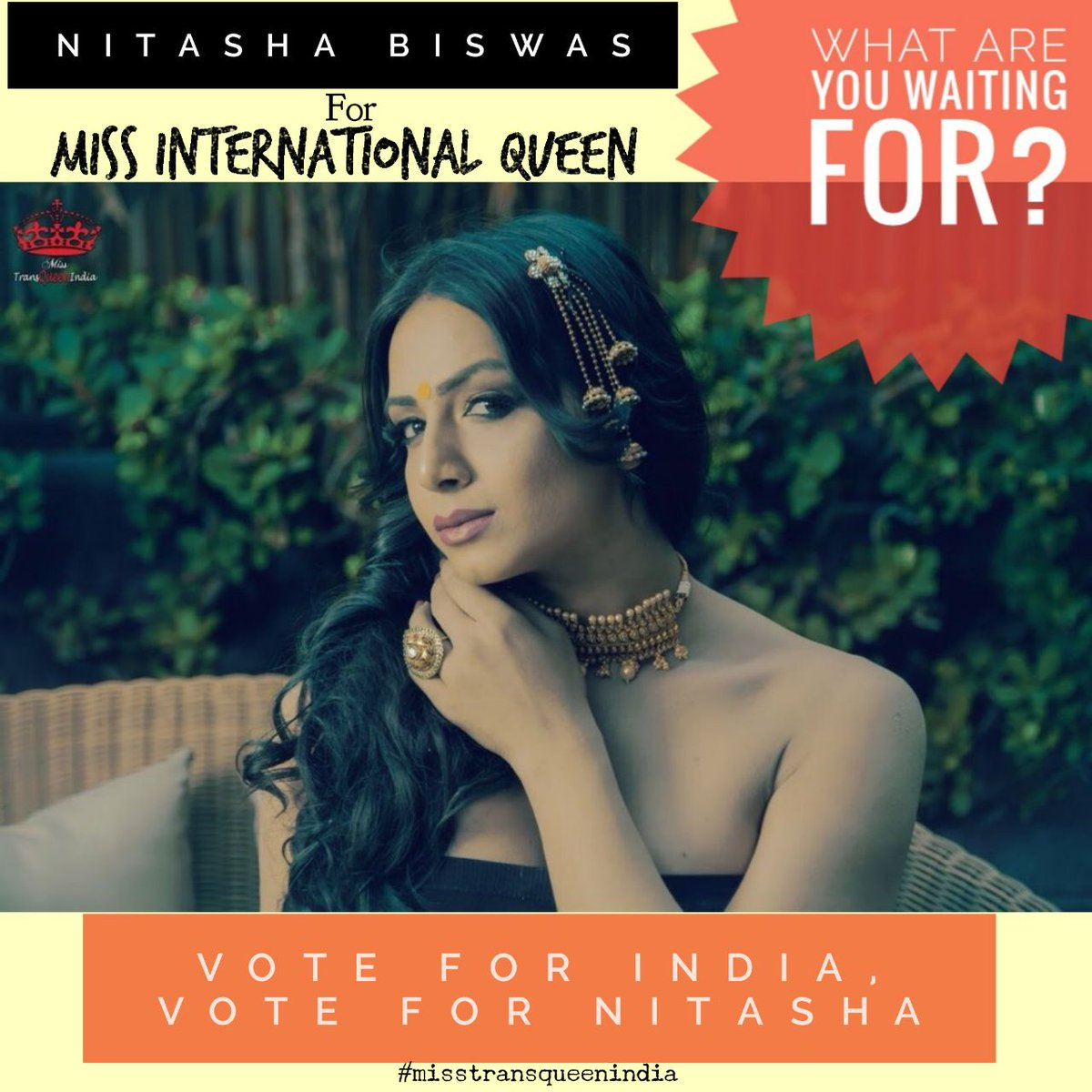 Nitasha, India's first Transqueen is all set to start her Miss International Queen 2018 journey, representing India for the first time.  Like the video to vote-   #REENARAI #SUHANIDREAMCATCHERS #TRANSQUEEN #misstransqueenindia2017  #MIssInternationalQueen