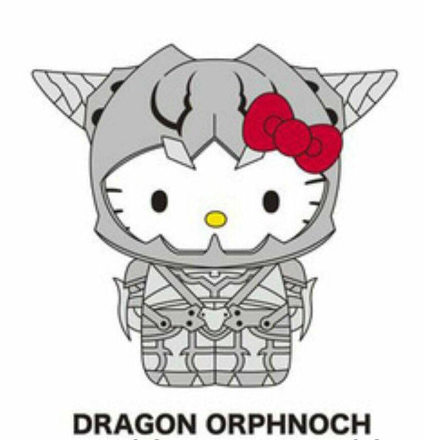 あら!ドラゴンオルフェノクキティー! 可愛いwシャコみたい!w ありがとうございまーす! #fujitaray #dustz #ハローキティ #仮面ライダー555