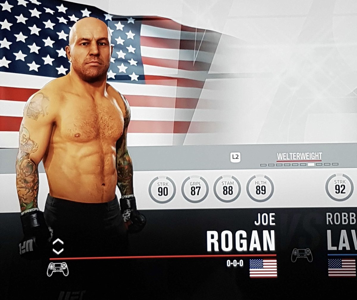 DVChp1DVQAAGWSj Pic: Joe Rogan is a secret character in EA UFC 3 and here are his skill ratings