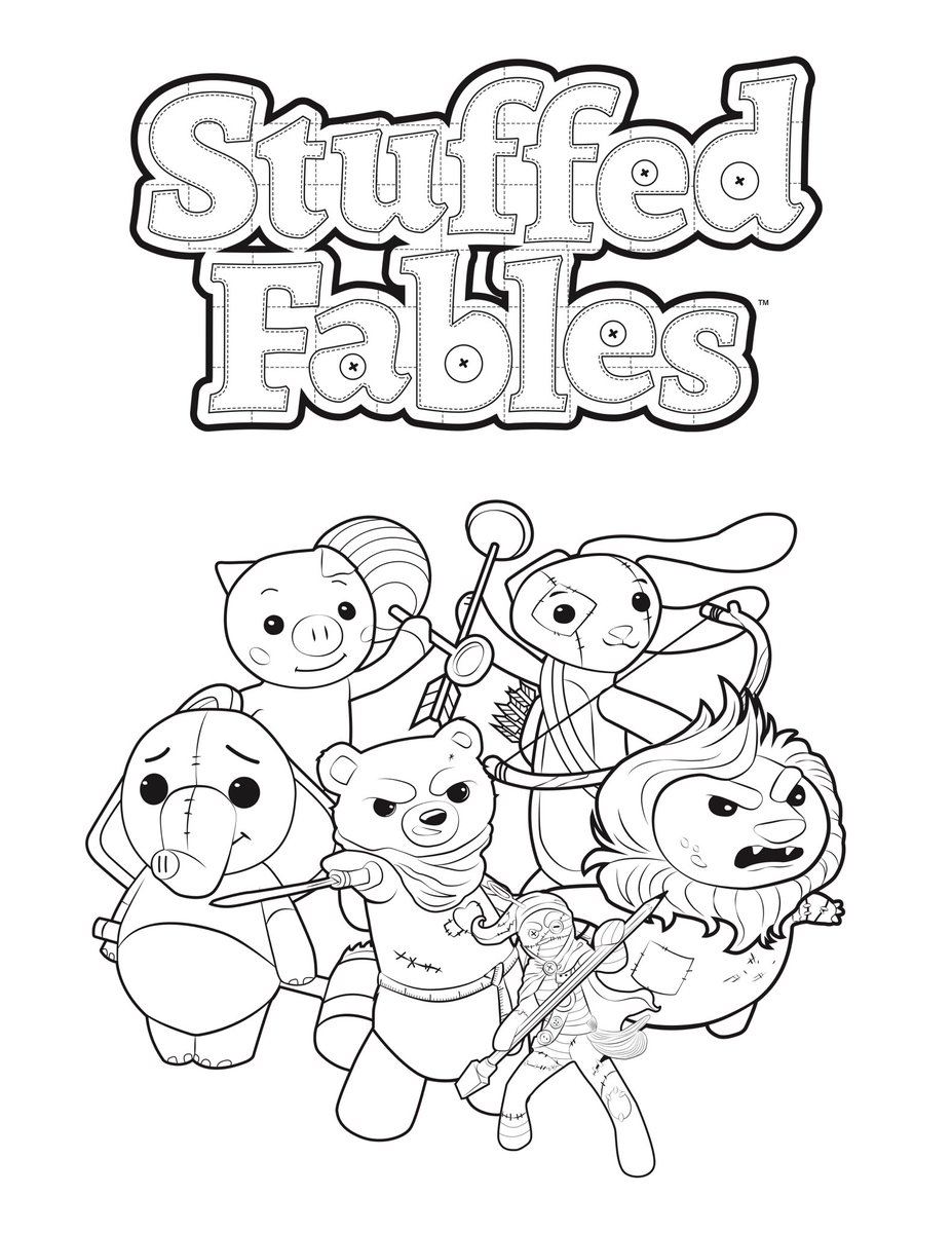 The Stuffed Fables Coloring Book Is Now Available To Download From Our Website And It Includes 2 NEW Never Before Seen Stuffies For You Name Play