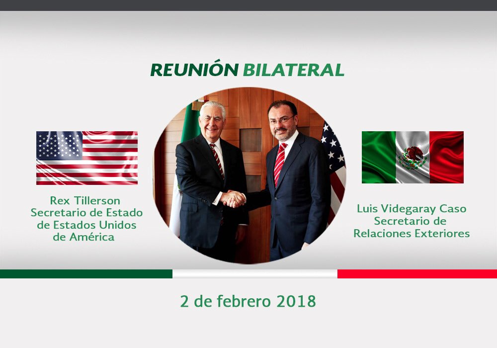 Tillerson aconseja a México poner atención ante una posible injerencia rusa