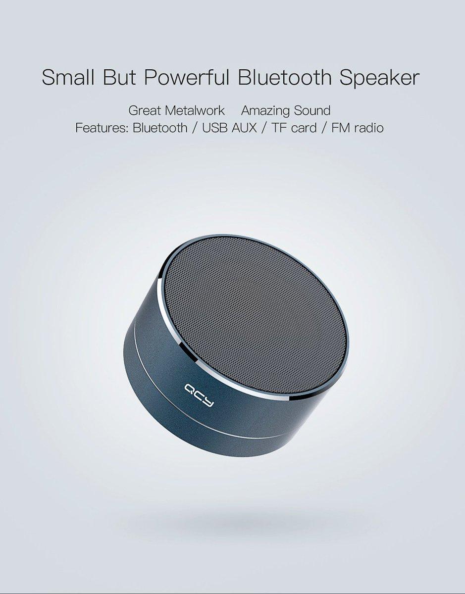 Metal Portable Wireless Bluetooth Speaker A10 with Mic TF Card FM Radio