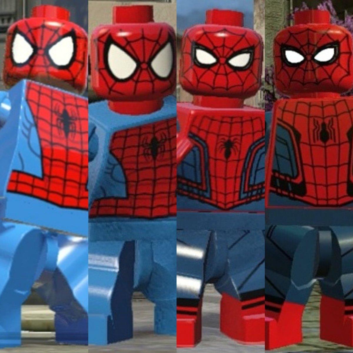 Mario Power On Twitter Lego Spiderman Evolution Httpstco