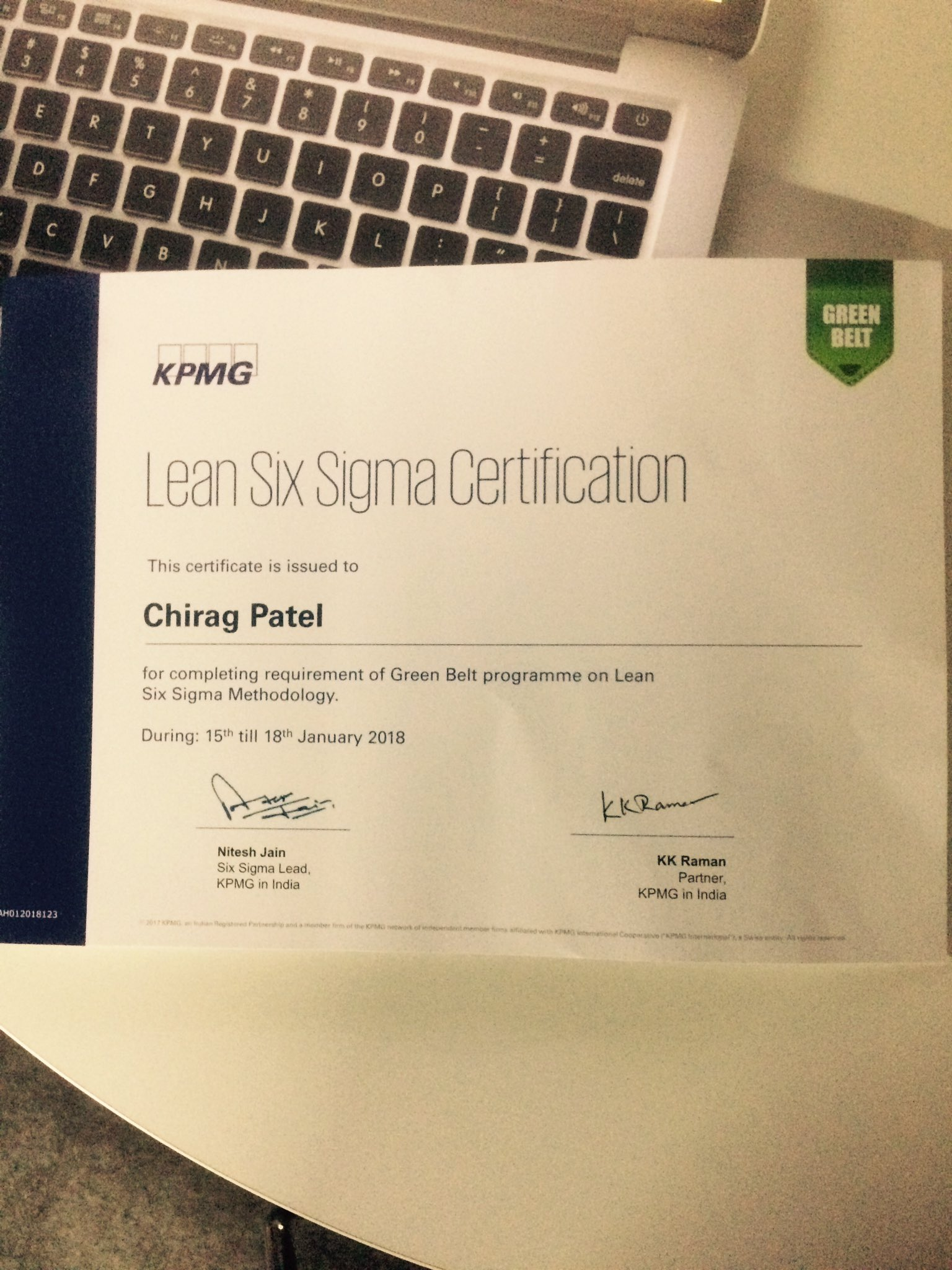 Chirag Patel On Twitter Achievement Accomplished Lean Six Sigma