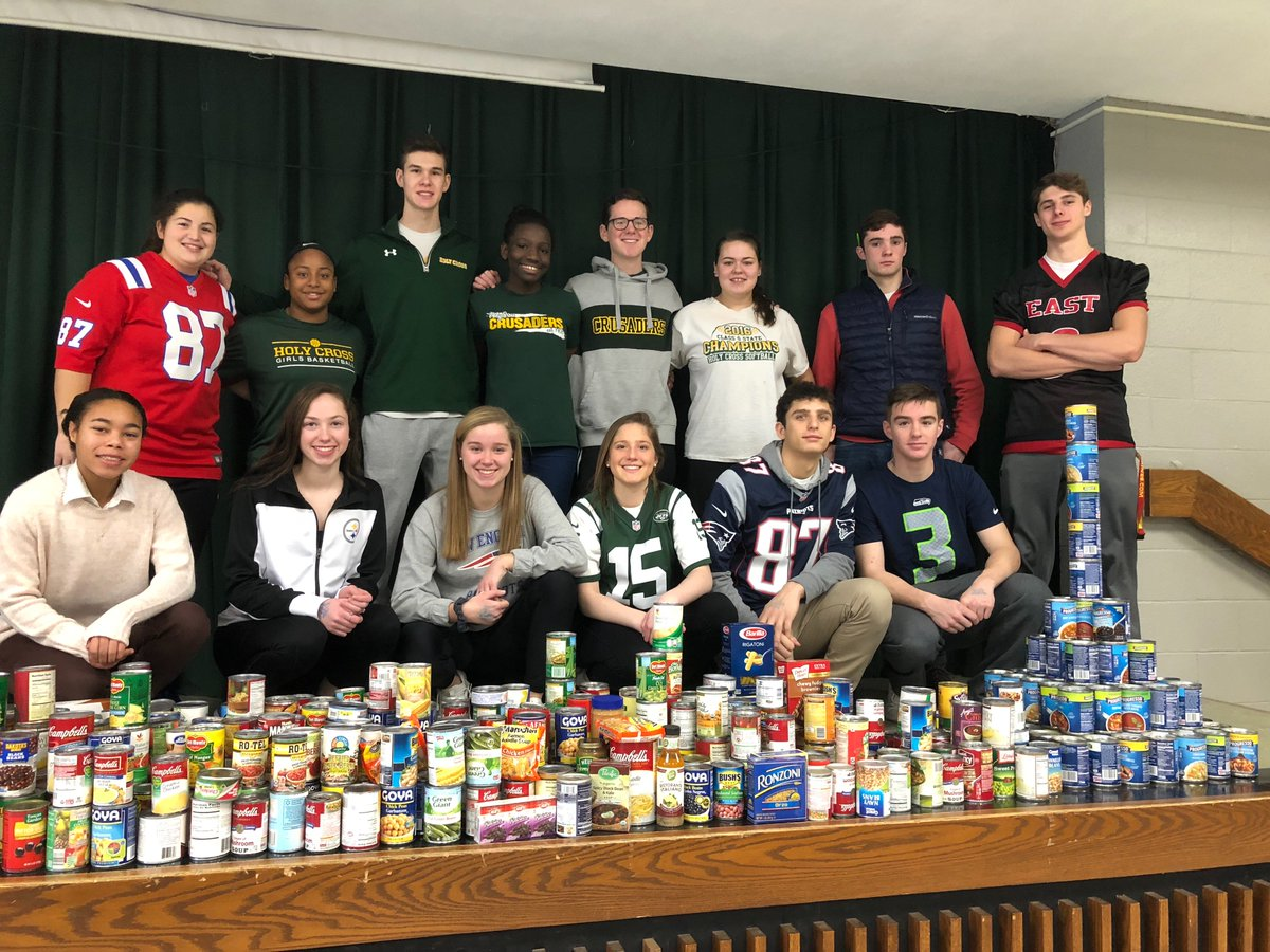 ... Soup And Other Non Perishable Items Which Will Be Donated To St. Vincent  De Paul Soup Kitchen In Waterbury! Great Job Athletic Council And Student  ...