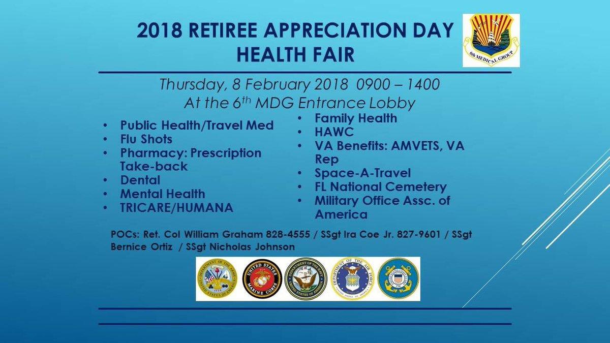 Macdill Afb On Twitter The Retiree Appreciation Day Health Fair