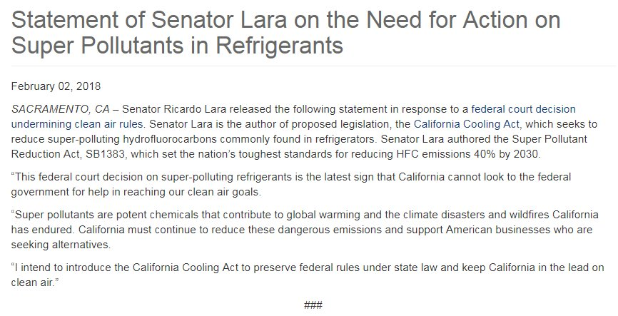 Federal Support For Potent New >> Ricardo Lara On Twitter Statement On Us Court Decision That Hurts