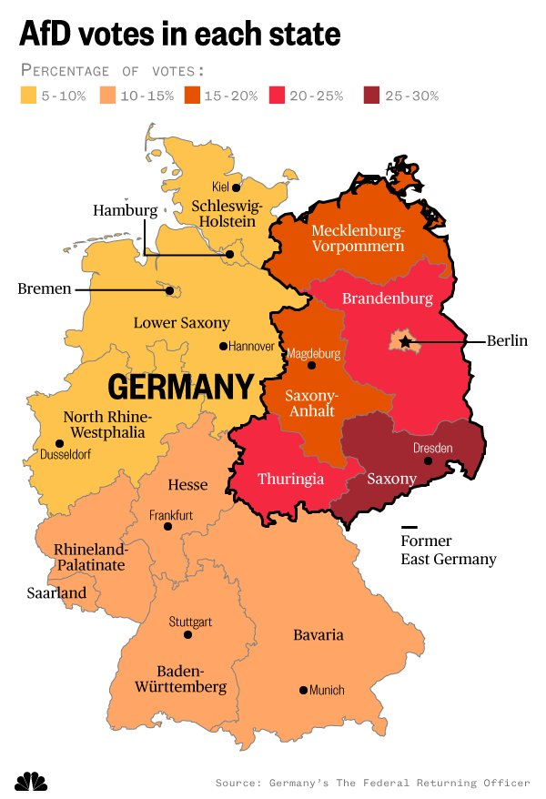 Map Of East And West Germany With Cities.Nbc News On Twitter Bitterfeld Wolfen Demonstrates The Growing