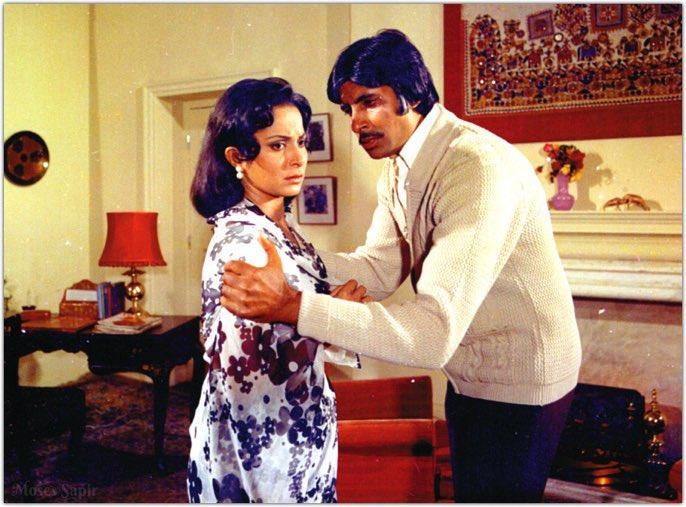 "Moses Sapir on Twitter: ""Amitabh Bachchan ji and Waheeda Rehman ji ~ Kabhi  Kabhie' @SrBachchan Happy Birthday Waheeda Ji… """