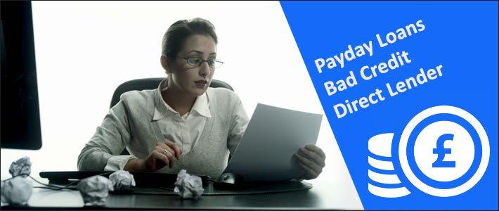 direct lender payday loan bad credit