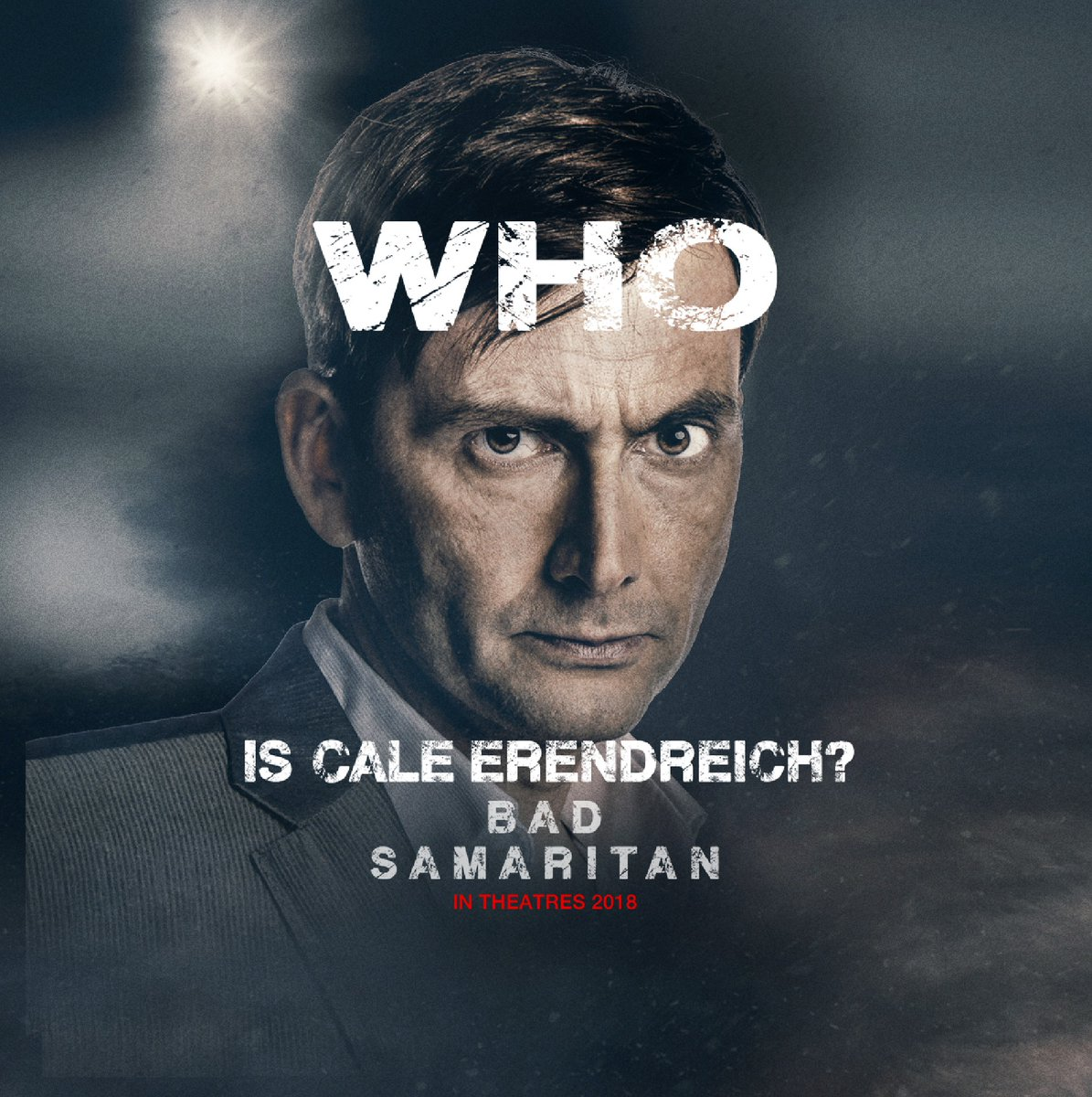 Promo graphic of David Tennant for Bad Samaritan