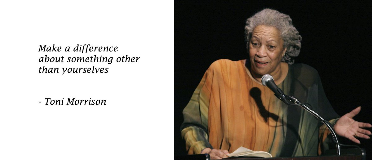 Toni Morrison won the Pulitzer Prize for fiction in 1988 for her novel Beloved. In 1993, she was awarded the Nobel Prize in Literature.  #BlackHistoryMonth