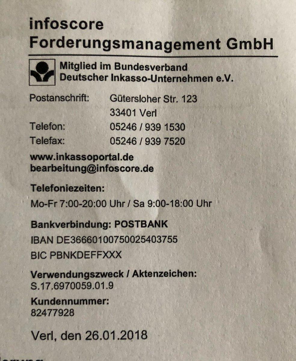 Kai Diekmann On Twitter Also Infoscore Forderungsmanagement Gmbh