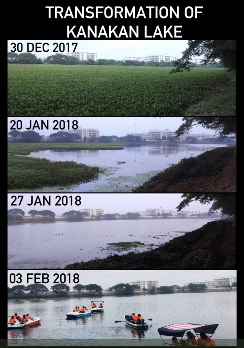 Revival of a Lake in Puducherry, by a collective effort of all stakeholders and contributors. 🙏🙏