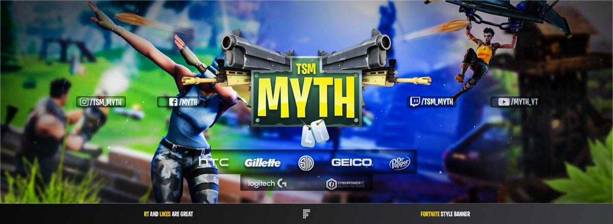Flash On Twitter 1st Fortnite Themed Banner For Tsm Myth Hope You