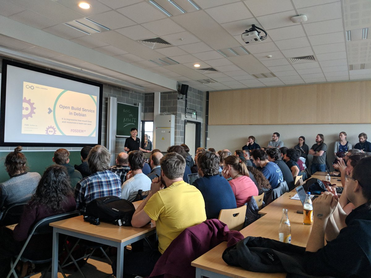 Picture of OBS talk at FOSDEM