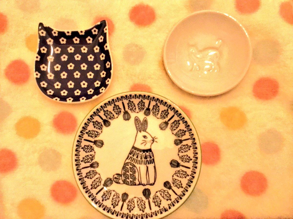 test ツイッターメディア - セリアでねこの豆皿とうさぎの小皿お買い上げ? 白い豆皿はお醤油を入れるとねこちゃんの姿が浮かびます^ ^  #セリア #豆皿 https://t.co/Goc3EdjnQU
