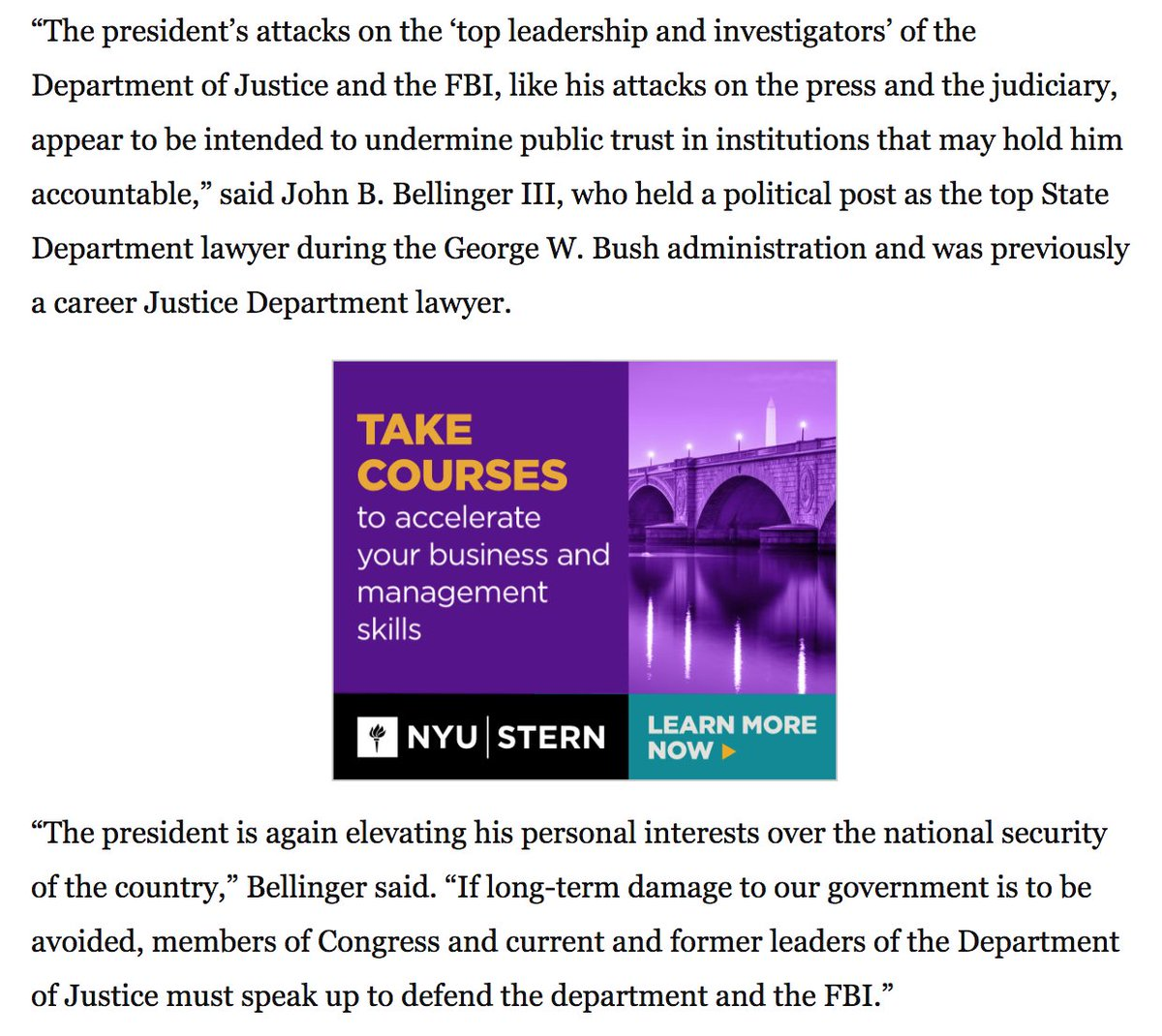 benjamin wittes on twitter two years ago john bellinger was to   threat to u s national security a short essay that profoundly influenced my thinking on the subject unlike a lot of republicans he has continued
