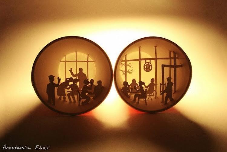 ศิลปินฝรั่งเศส Anastasia Elias  สร้างงาน...