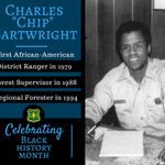 "Charles ""Chip"" Cartwright was the first African-American @forestservice District Ranger (1979), Forest Supervisor (1988) and Regional Forester (1994). #BlackHistoryMonth #tbt #ThrowbackThursday"