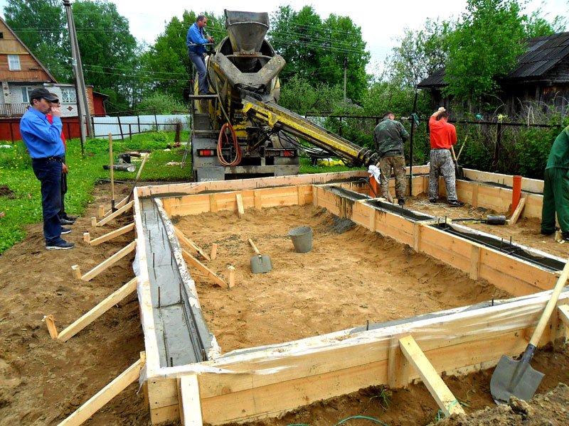 начало строительства дома фундамент