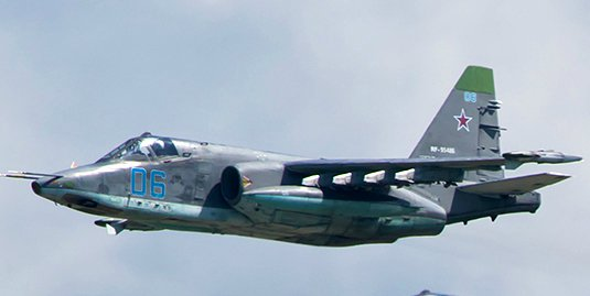 Su-25 over Syria battlefield