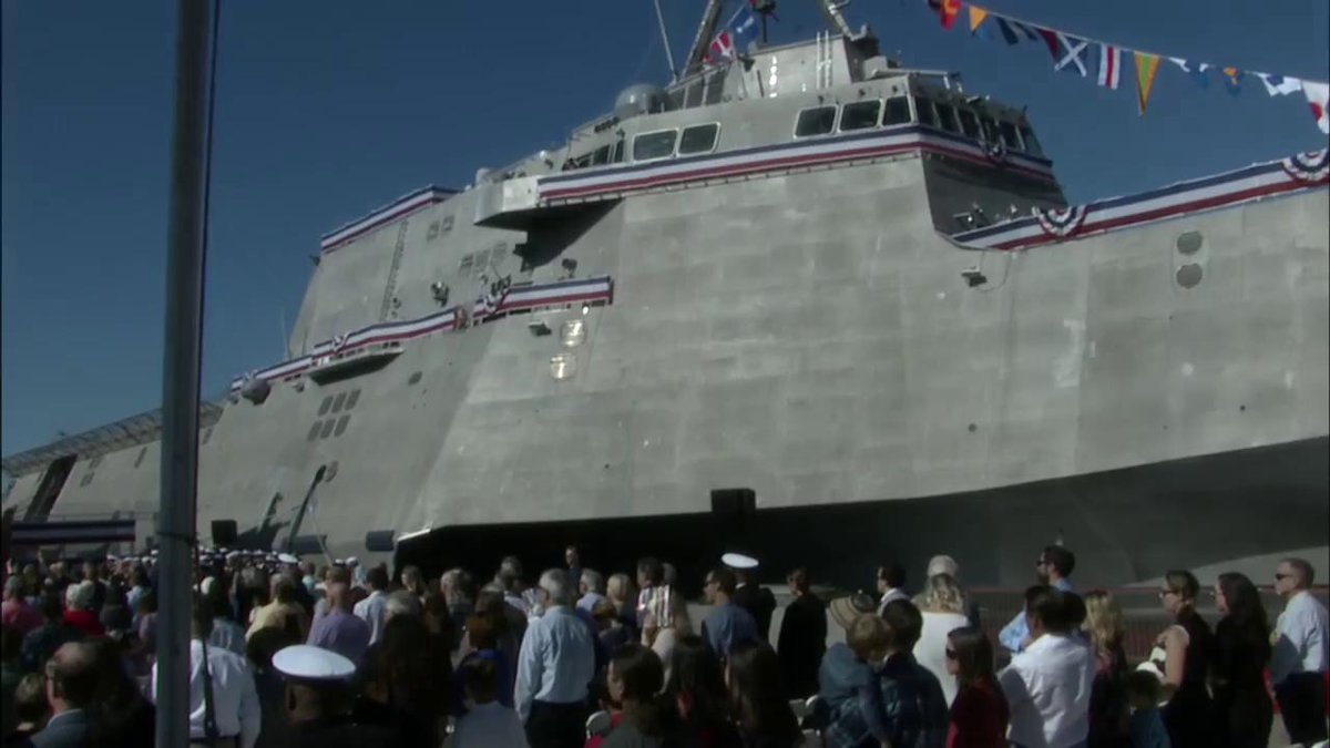 The US Navy just commissioned its newest littoral combat ship, the $440 million USS Omaha