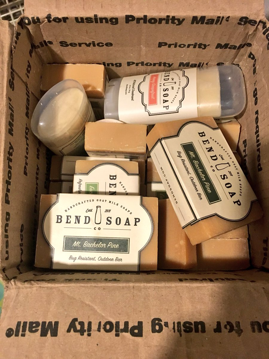 My wife likes getting this more than she likes getting flowers. Thank you @BendSoapCompany https://t.co/C7eg40e0kw