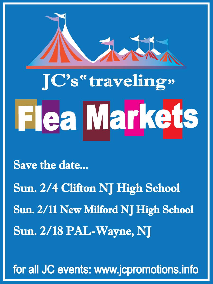 ... #JC's #FleaMarket #SundayFunDay on 2/2 @ Clifton NJ High School 333  Colfax Ave. #JCEvents #FleaMarkets #NJ #ShopLocal go to  http://www.jcpromotions.info ...