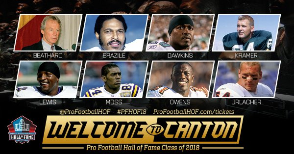 BREAKING: The Pro Football Hall of Fame Class of 2018 - Welcome to Canton! #PFHOF18