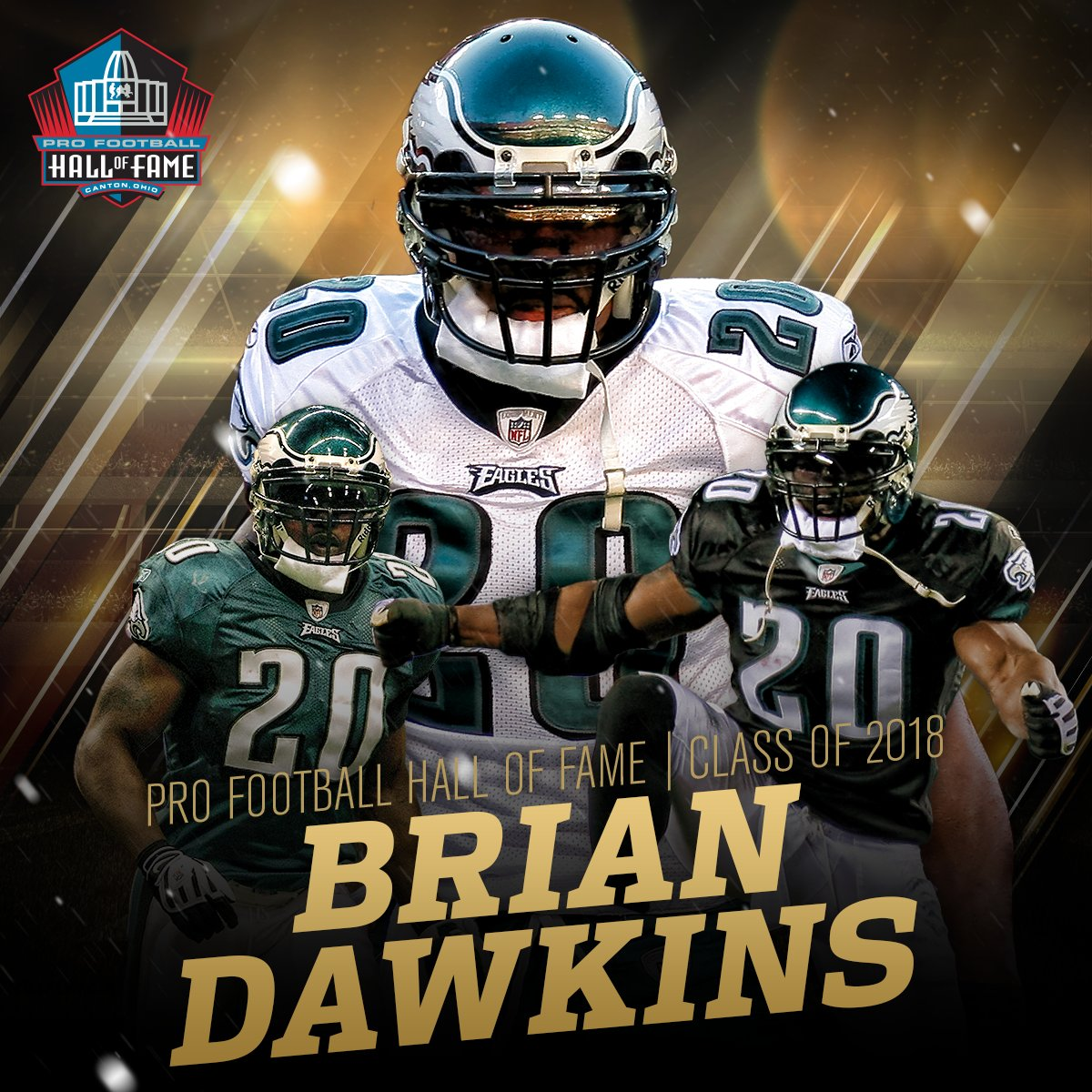 .@BrianDawkins is heading to the @ProFootballHOF! #PFHOF18