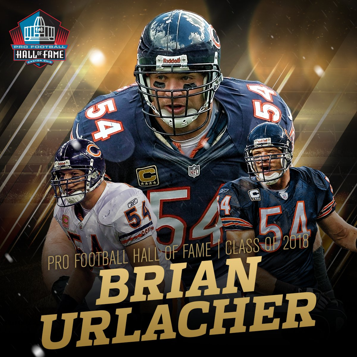 Brian Urlacher...  HALL OF FAMER! #PFHOF18