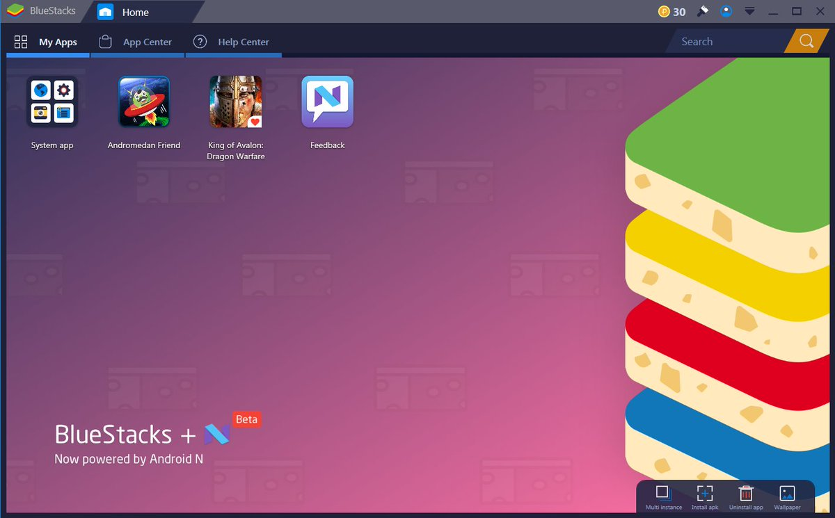 How to: download bluestacks n beta, install apps, games and apk files.