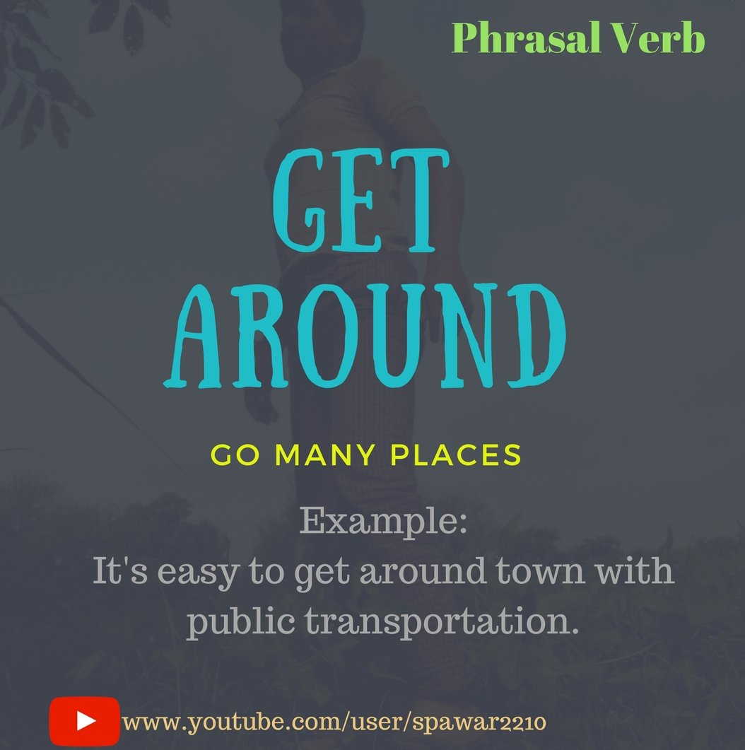 Go around phrasal verb meaning